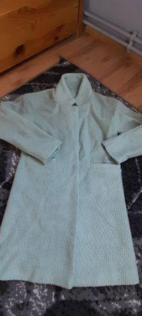 Miętowy płaszcz M