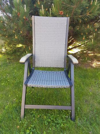Krzesło fotel lezak technorattan ratan aluminium skladany z niemiec