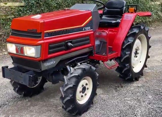 Traktorek Yanmar F195D 4x4  super stan, asyst. skrętu jak Kubota Iseki