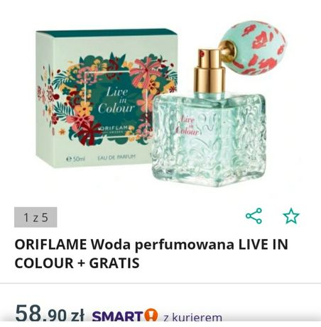 Live in colour oriflame perfumy