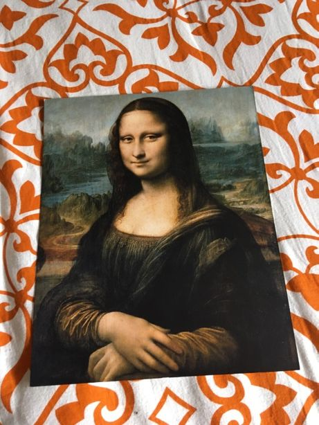 Pintura da Mona Lisa (30cm x 24cm), do Louvre - Paris