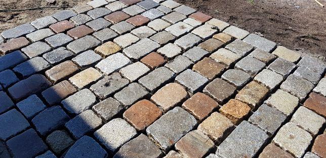 Kostka granitowa rozbiórkowa wyślizgana starobruk kamień polny bruk
