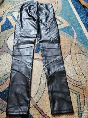 Spodnie legginsy jak skórzane 38 M nowe