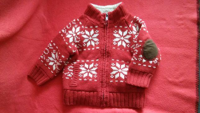 Ciepły sweter wzór norweski 92 cm