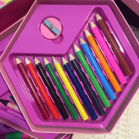 Набор для рисования творчества карандаши фломастеры краски подарочный