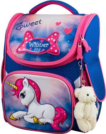 Ранец школьный рюкзак для девочек единорог  Winner One 2040