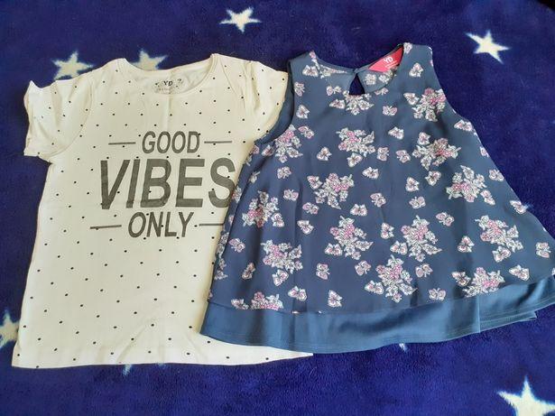 bluzki krótki rękaw dla dziewczynki - 134/140