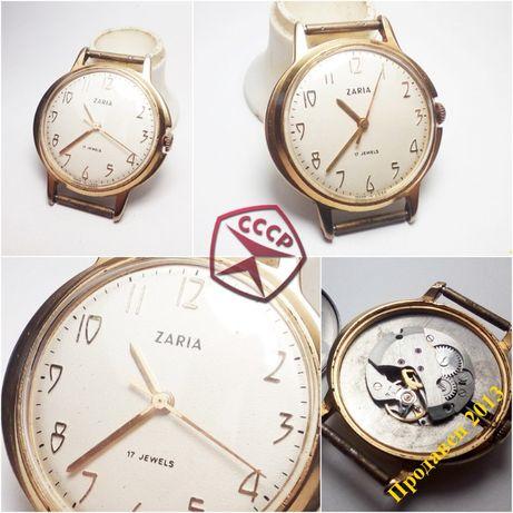 Часы Заря экспорт СССР AU10 Обслужены!