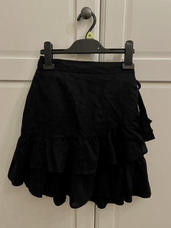 Krótka spodnica z falbanką
