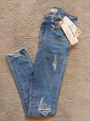 Spodnie jeansy hello miss