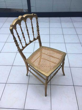 Cadeira de madeira e palhinha   Antiguidade