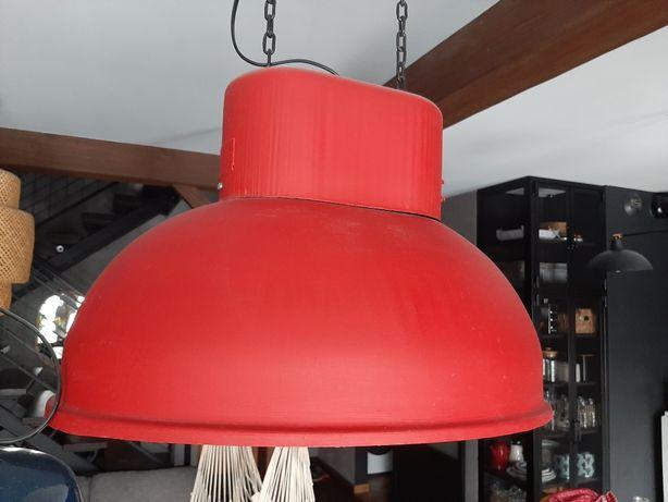 Lampa industral loft ubot uboot sprawna czerwona metalowa