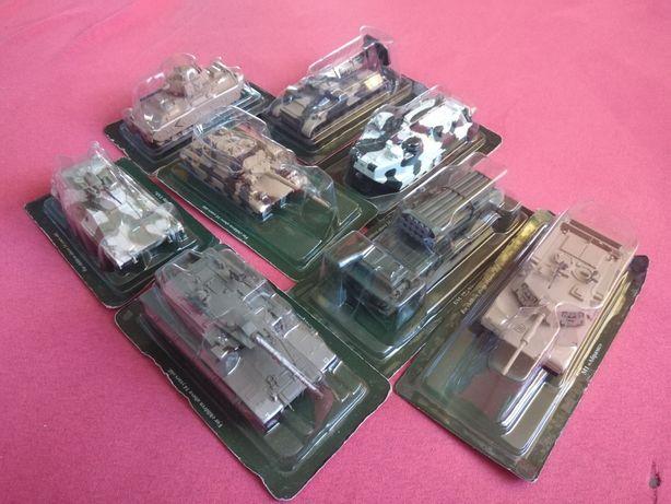 Zestaw 8 Modeli pojazdów wojskowych SKALA 1:72 OKAZJA TANIO