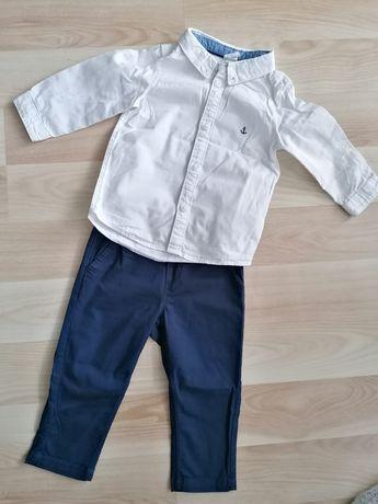 Koszula i spodnie h&m 80