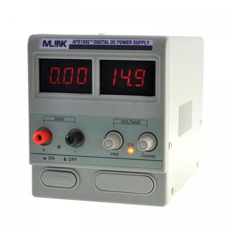 MLINK APS1502 + 15V, 2A Fonte de alimentação ajustável com display dig