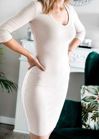 Dopasowana prążkowana sukienka Lila Lou