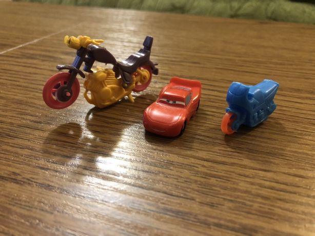 Игрушки с киндеров 5 штук. Мотоциклы и бегемотики