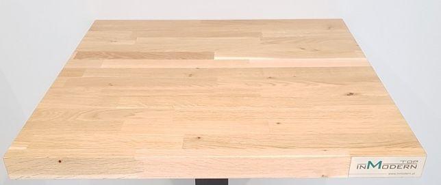Blat dębowy klejonka 70 x70 cm gr. 40 mm lakierowany PRODUCENT