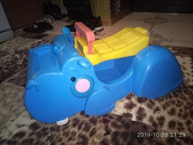 Ходилка-каталка ходунки машинка Бегемот Fisher Price
