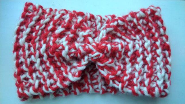 Новая повязка на голову для девочку подростка Красная с белым