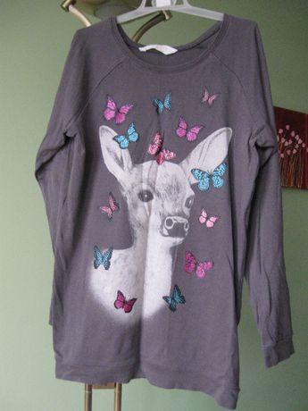 bluza dziewczęca w motylki h&m