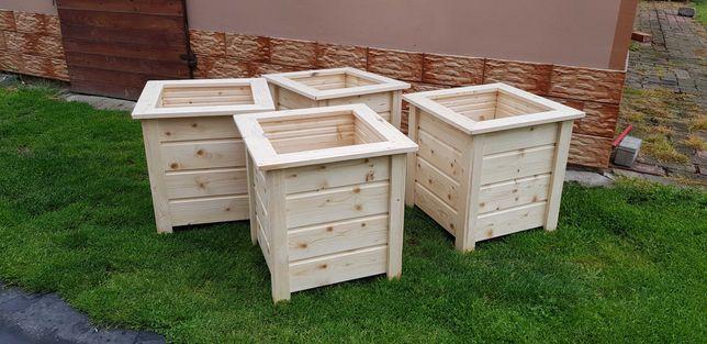 doniczki donice drewniane