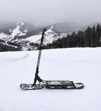 Снежный зимний самокат snowscoot Eretic Slope аренда продажа Буковель