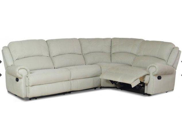 Кожаный диван угловой с реклайнерами