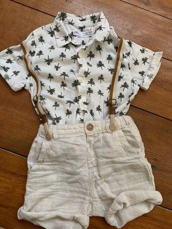 Zara рубашка и шорты (комплект)