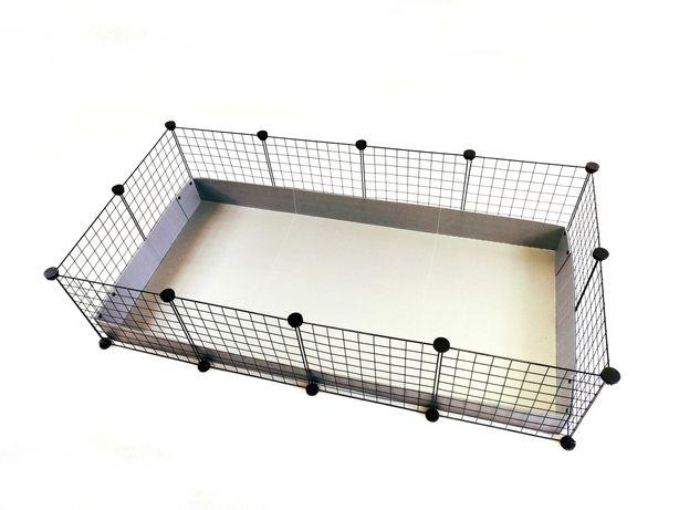 Klatka modułowa marki C&C 145 x 75 cm dla świnki morskiej królika jeża