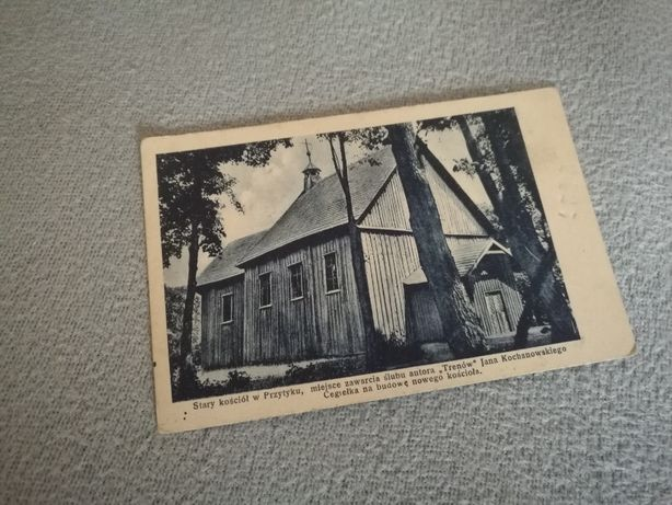 Pocztówka Stary kościół w Przytyku