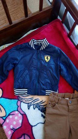 Ветровка куртка на флисе 86-92