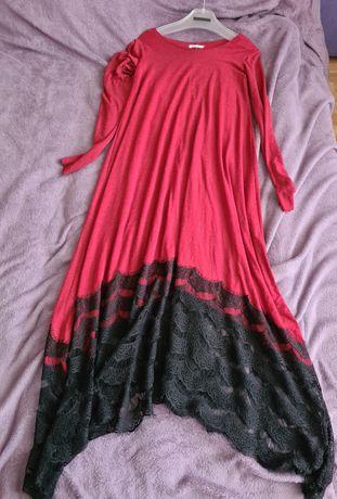 Длинное платье с кружевом