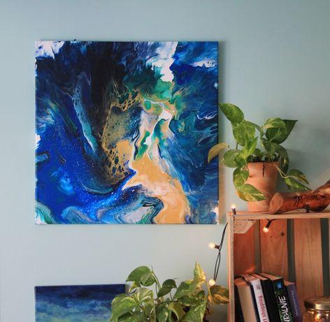 Duzy obraz abstrakcja, 50x50, okazja!