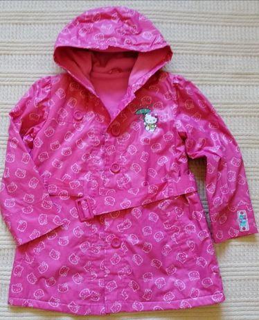 Płaszcz od deszczu, Hello Kitty rozm 116, 5-6 lat