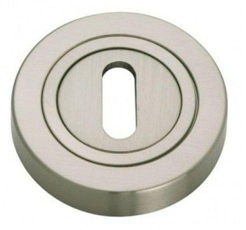 Gamet Szyld dolny PLT-23, klucz, nikiel szczotkowany , okrągły