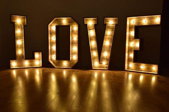 Napis LOVE rustykalny