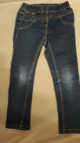 Spodnie jeans dziewczęce 110