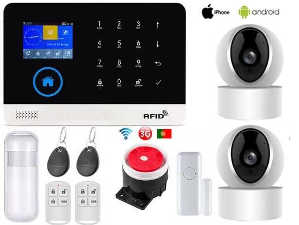 Alarme Casa sem Fios + Cameras GSM/3G/WiFi Android/iOS (NOVO)
