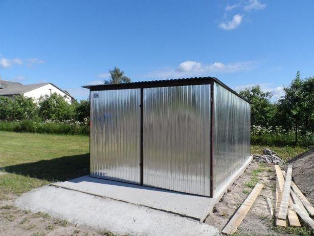 GARAŻ blaszany Blaszak Magazyn Schowek na budowę Garaże blaszane