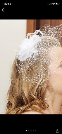 Piękny fascynator do ślubu- viola piekut