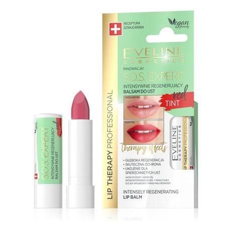 Eveline koloryzujący balsam do ust Lip Therapy Red kwas hialuronowy