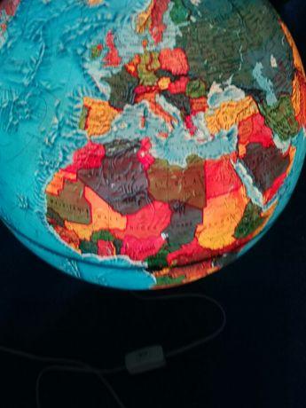 Candeeiro grande mundo globo