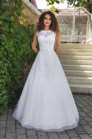 Suknia ślubna 44-46 koronka model 066-18