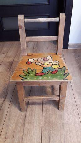 Krzesełko drewniane dla dziecka z czasów PRL odbiór na miejscu