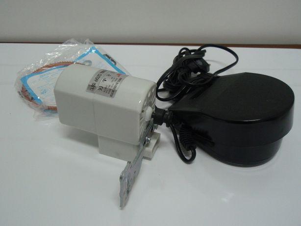 Motor máquina costura doméstica, pedal e correia, Oliva, Singer