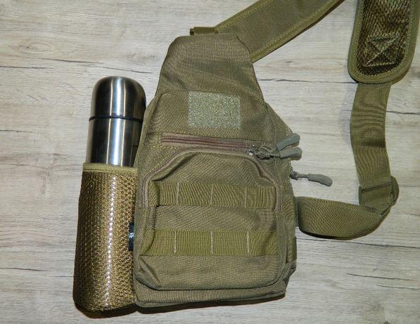 Комплект термос + наплечная сумка рюкзак