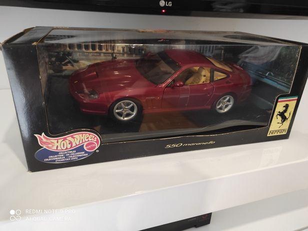 1:18 Ferrri 550 maranello hotwheels carro colecao