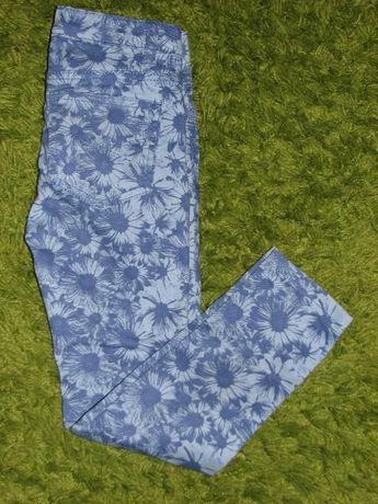 Spodnie rurki floral 116 cm 5-6 lat