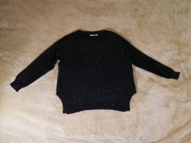 Camaieu sweter czarny ze srebrną nitką oversize rozm. M jak nowy